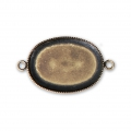 Spacer setting for flat back oval cabochon 25X18 mm Bronze Tone x1