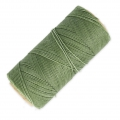 Linhasita wax thread bobbin for micro macramé 1 mm Military Green (90) x180m
