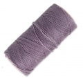 Linhasita wax thread bobbin for micro macramé 1 mm Mauve (232) x180m