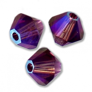 8cc218bfc Swarovski 5328 Crystal Bicones 3 mm Amethyst Shimmer 2X x50 - Perles & Co