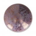 Glass Cabochon by Puca® 18 mm Opaque Light Amethyst Luster Bronze x 1