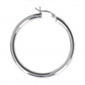 925 Sterling Silver earring hoops to decorate 40 mm x 3 mm x2
