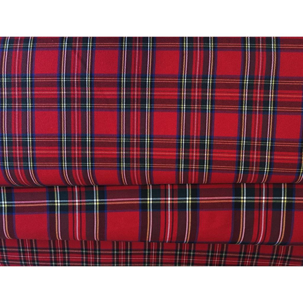 Tartan Fabric Medium Tiles Red X10cm Perles Amp Co