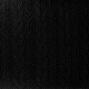 Quilted jersey fabric - Twisted mesh - Black x10cm