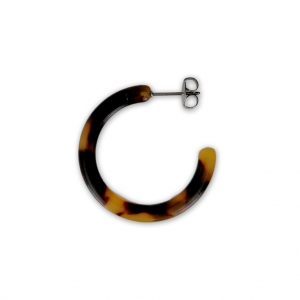c68e0d0bf Cellulose acetate earring hoops 30x3 mm Tortoiseshell - Brown/Black x2 -  Perles & Co
