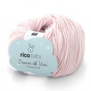 Rico Baby Wolle.Rico Baby Dream Dk Uni Wool Pink N 003 X 50g