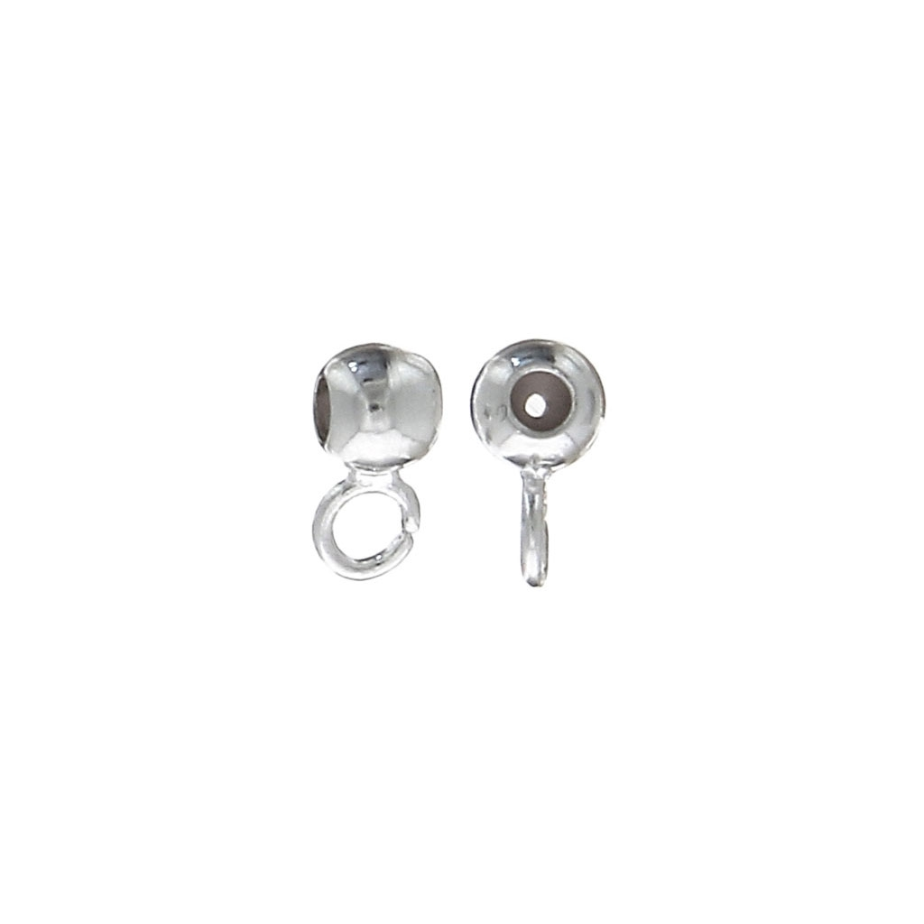 a0ba94d00 Dangle charm stopper bead 3 mm with a 1 mm hole Silver Tone x10 - Perles &  Co