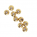 60b96cbb4 Stopper beads 3 mm with a 0.5mm hole Gold Tone x10