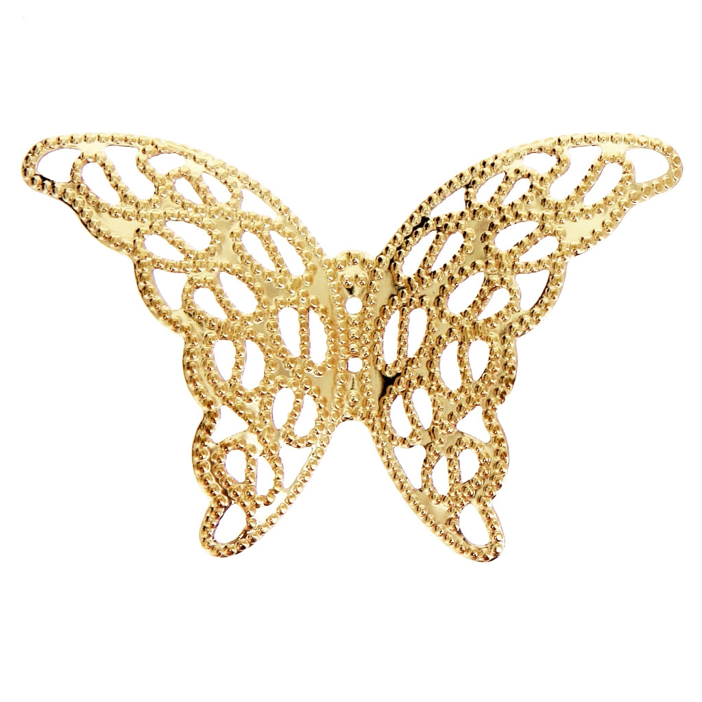 85640c3bbbe9e Filigree butterfly finding 26x38mm Gold Tone x1