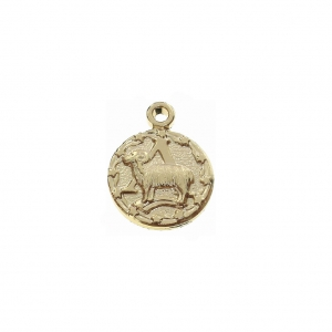 Astrological charm - Aries Zodiac sign 13 mm Gold Plated 3 microns x1
