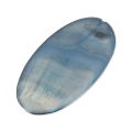 Iridescent Mother-of-Pearl Oval Pucks 30x16mm Grey blue iridescent x5
