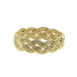 8797a75b6 Braided ring size 56 - Gold Plated 3 microns x1 - Perles & Co