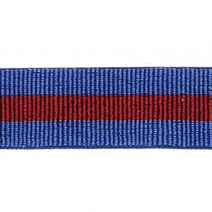 Elastic ribbon for sewing 40 mm Blue / Red x 50 cm