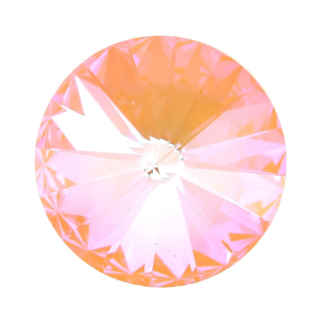 f3d26b0485f40 Swarovski 1122 Rivoli Cabochon 12 mm Crystal Peach DeLite x1 ...