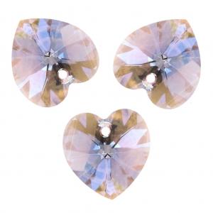 c442d15c2 Swarovski 6228 Hearts 10,3x10 mm Light Amethyst Shimmer x6 - Perles & Co