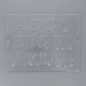 A-Z Alphabet Plaster Mold in Hard Plastic for Plaster and Concrete x1