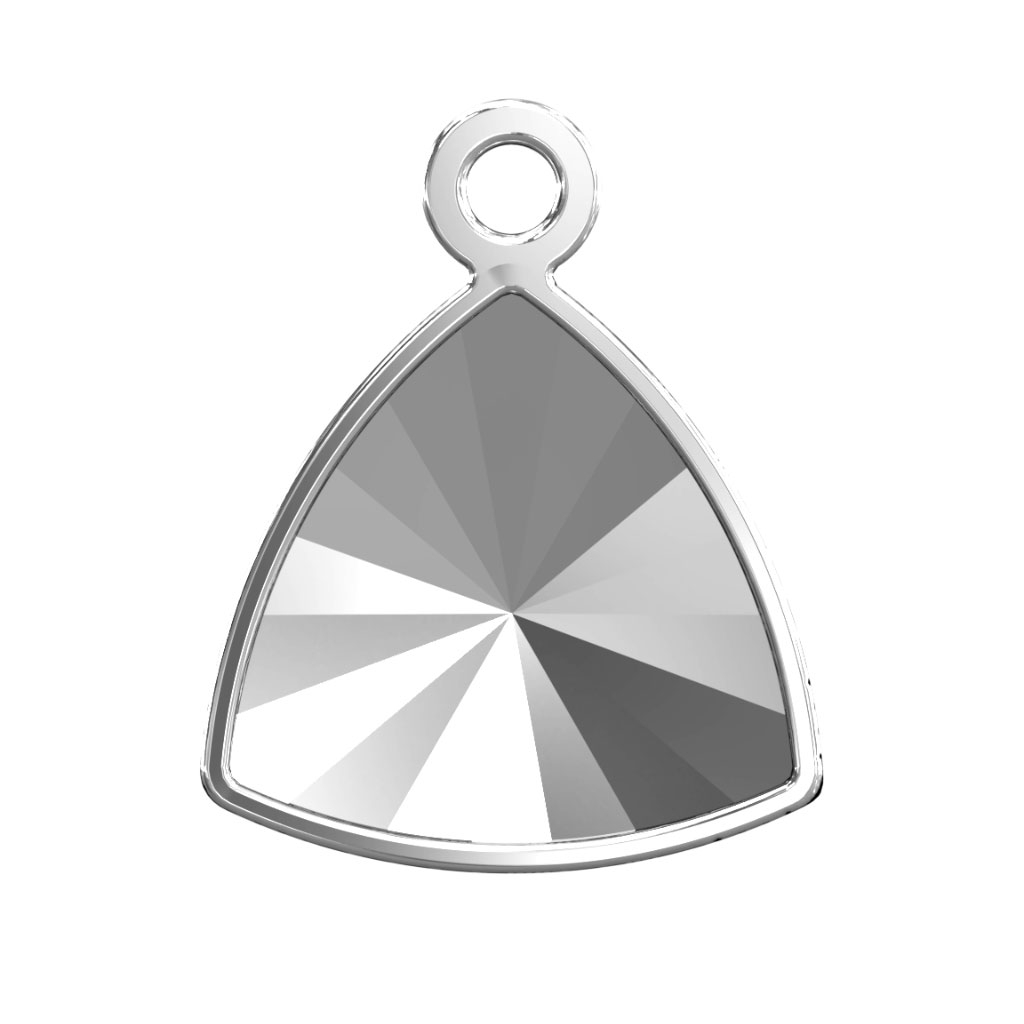 3fdca078213 Stick-on Setting for Swarovski Kaleidoscope Triangle 4799 9 mm Rhodium Tone  x1 - Perles & Co