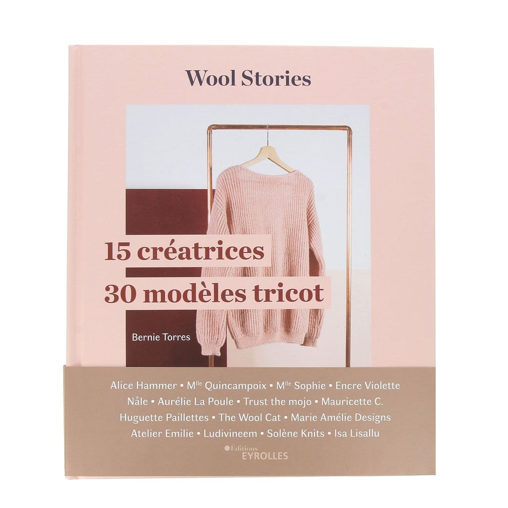 Wool Stories 15 Creatrices 30 Modeles Tricot Book In French X1
