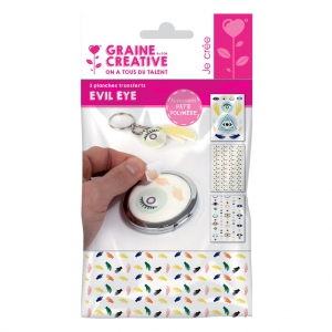 Graine Creative Transfer Sheets For Polymer Clay Evil Eye X1
