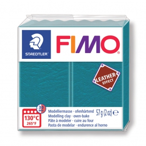 Fimo Polymer Clay Leather Effect 57gr Turquoise N 369