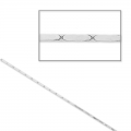 925 Sterling Silver Snake chain 0.7mm x 1m