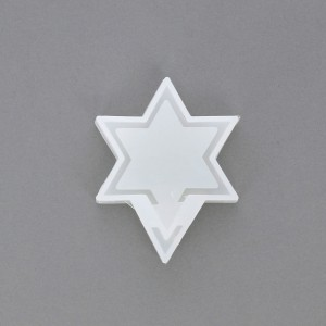 Shaker Silicone mold in 2 parts - Star of David shape - Inclusion Resin x1
