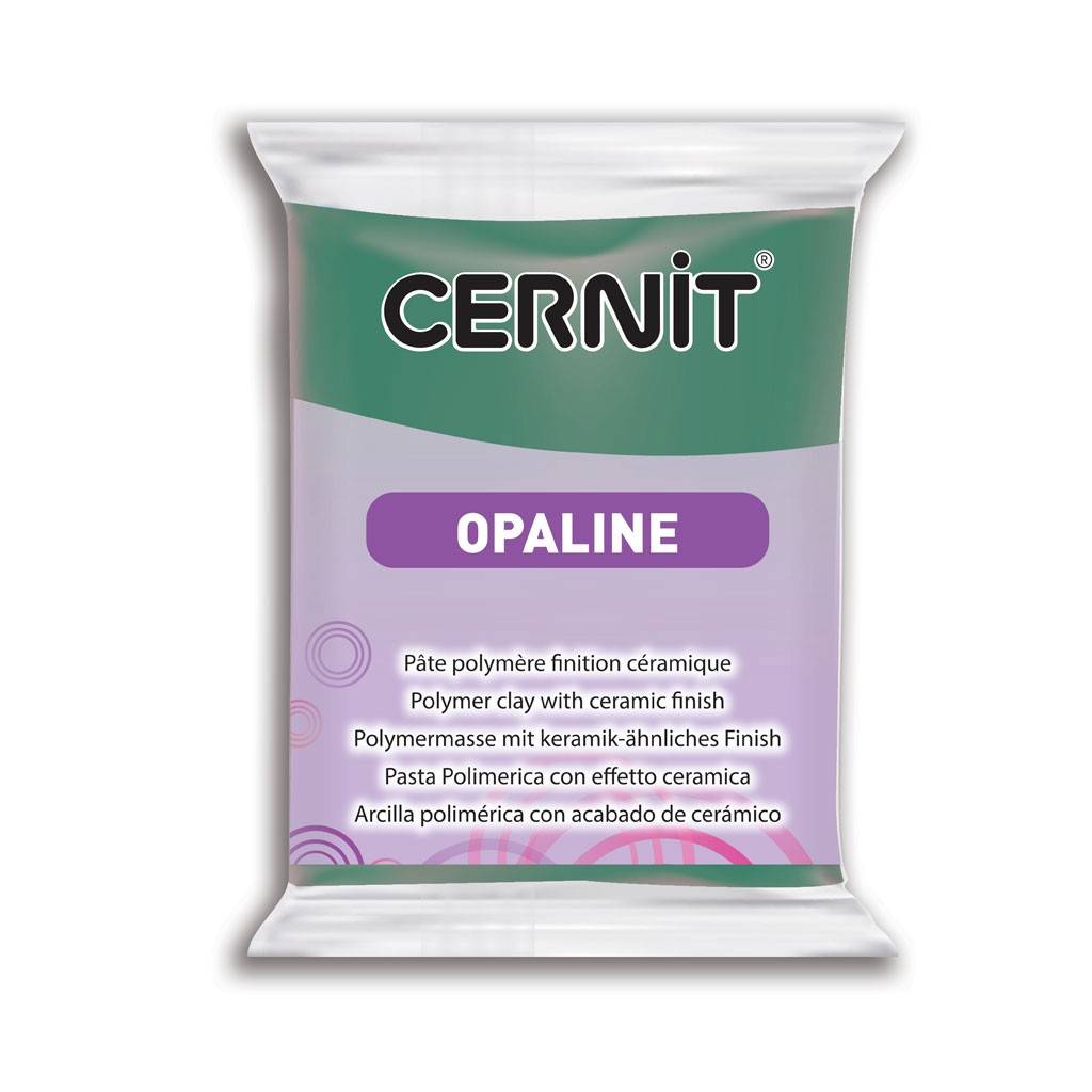 Cernit Polymer Clay With Ceramic Finish Opaline 56 Gr Celadon Green X1 Perles Co