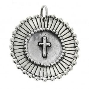 Sterling Silver Cross Medal
