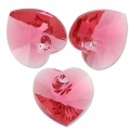 Swarovski 6228 Hearts Indian Pink 10,3x10mm x6