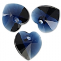 Swarovski 6228 Heart 18x17.5mm Dark Indigo x1