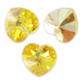 Swarovski 6228 Heart 18x17.5mm Light Topaz AB x1