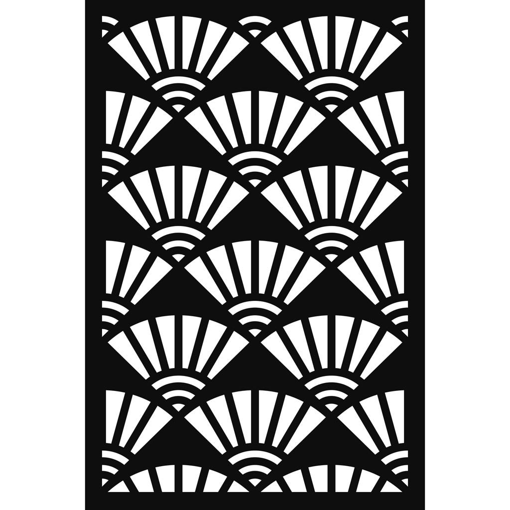 Decorative stencil Japan 9x9 cm - Fans x9