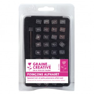4mm Stamp Set For Leather And Polymer Clay Leather Effect Alphabet And Number X1