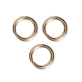 Jumprings open 4x0.6mm Gold tone x100