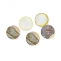 Round cabochon 8mm White Mother-of-Pearl x1