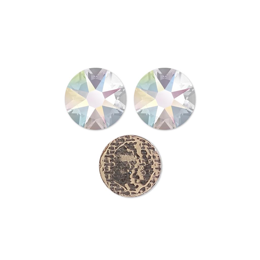 a9083cc9d Swarovski Hotfix rhinestones 8mm Crystal AB x12 - Perles & Co