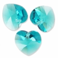 Swarovski 6228 Heart 18x17.5mm Blue Zircon  x1