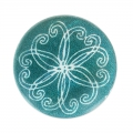 Mother-of-Pearl Round Pucks 20mm Turquoise x4