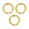 Jumprings open  5.5x0.8mm Gold colored x50
