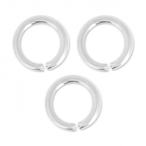 Jumprings open  5.5x0.8mm Silver colored x50