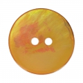 Mother-of-Pearl Button 18mm Light Orange x1
