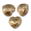 Swarovski 6228 Heart 18x17.5mm Crystal Golden Shadow x1