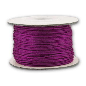 Braided nylon thread 0.8mm Plum x120m