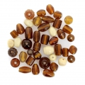 Set of glass beads Brown AB x50g