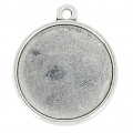 Medallion for 27 mm cabochon Old Silver tone