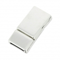 Magnetic clasp 28x14 mm for 10mm Lace silver tone x1