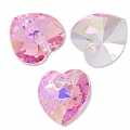Swarovski 6228 Hearts Light Rose AB 10,3x10mm x6