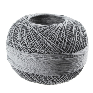 cotton yarn Lizbeth size 10 Charcoal Med n°607 x111m