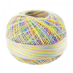 cotton yarn Lizbeth size 10 Rainbow Taffy n°153 x111m