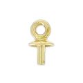 Pendant holder Classic for Swarovski Drop 20 mm Gold x1